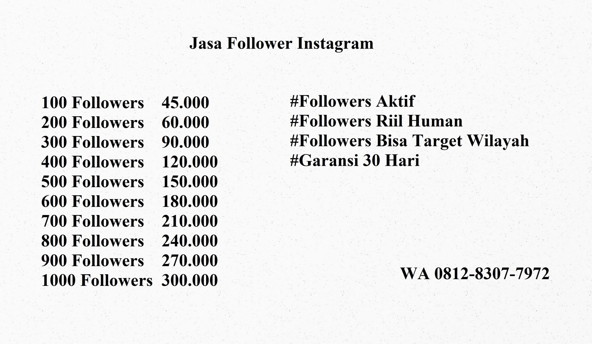 Jasa Follower Instagram Jogja Indonesia Aktif Tertarget