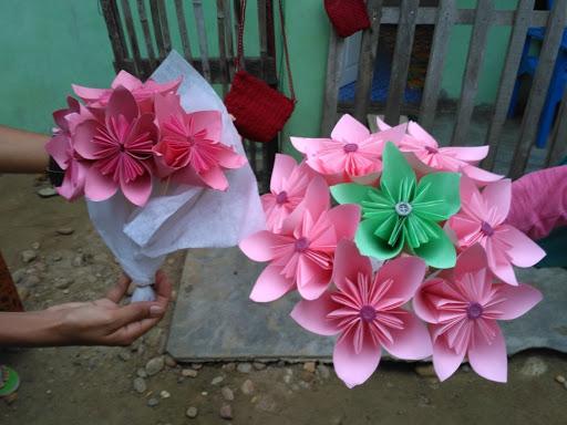 Cara Membuat Buket Bunga dari Kertas Origami