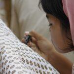 Gamis Batik Kombinasi Kain Polos